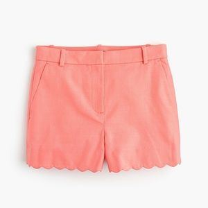 "J. Crew High Waisted 3"" Scalloped Hem Shorts"